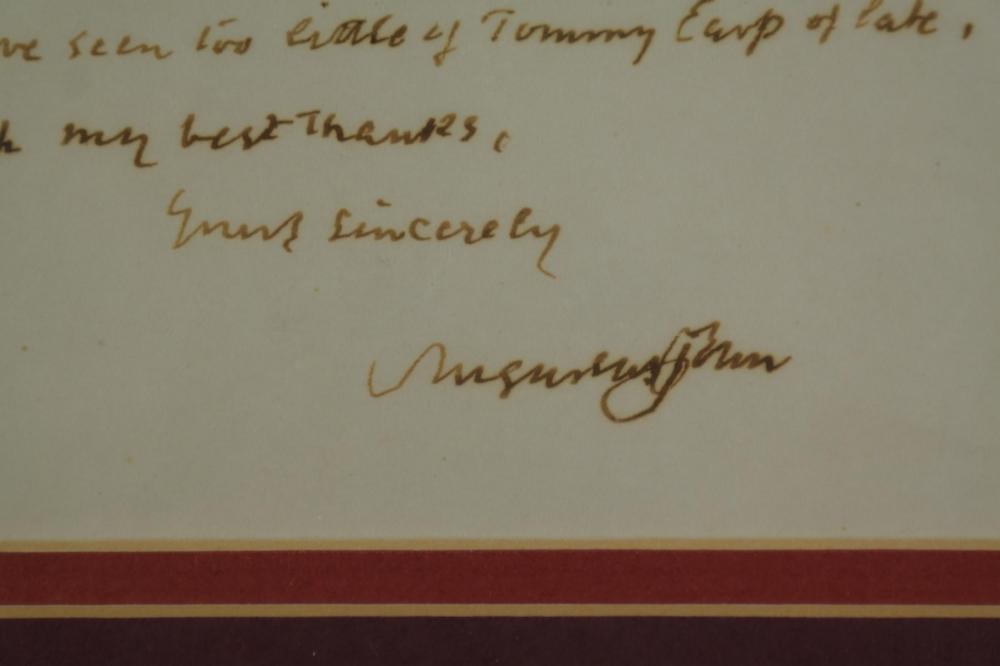 Lot 80: Augustus John. Autograph Letter Signed. 1956.