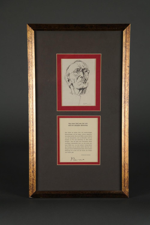 Herman Hesse. Autograph.