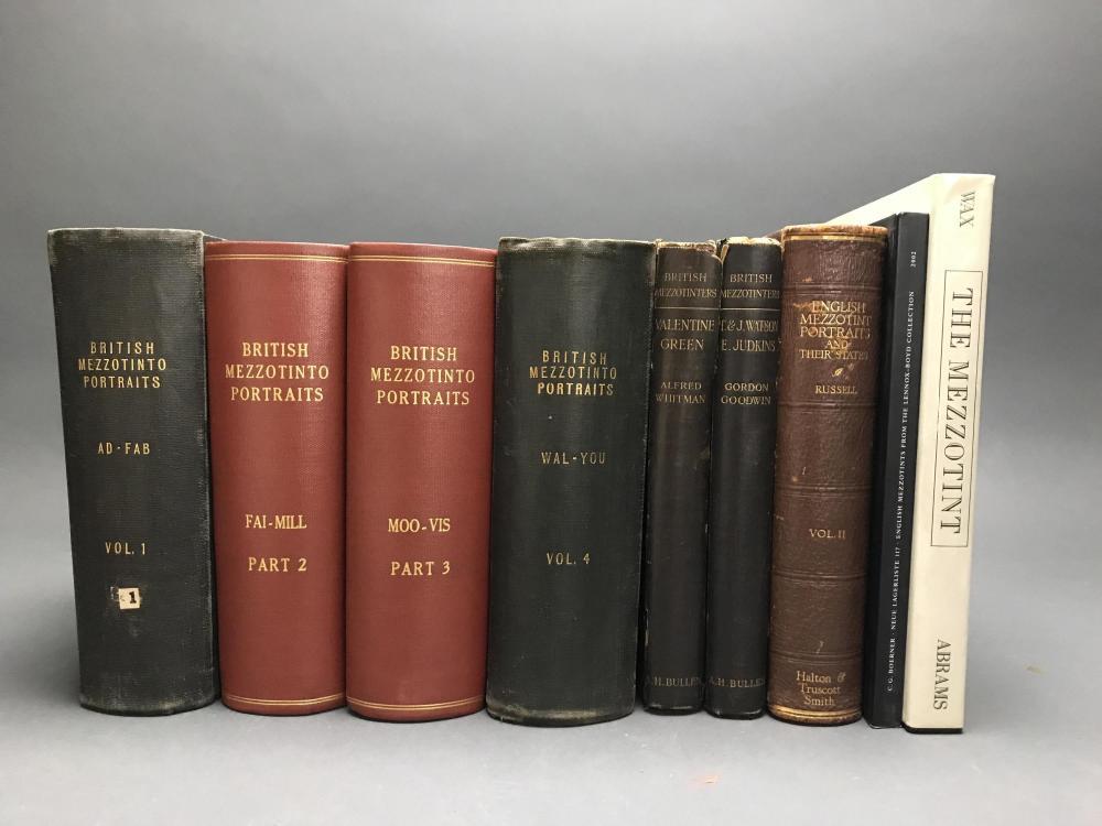 Lot 424: 9 vols. Mezzotints. Incl: British.