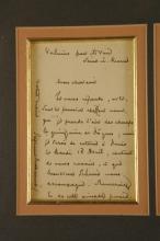 Lot 89: Stephane Mallarme. Autograph Letter Signed.