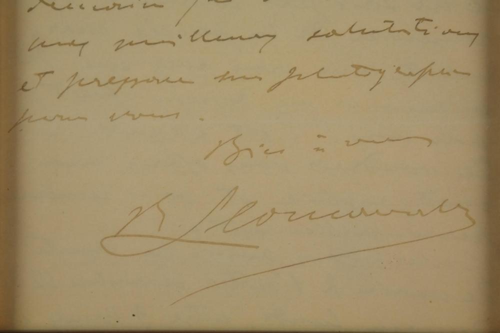 Lot 85: Ruggero Leoncavallo. Autograph Letter Signed.