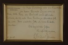 Lot 119: Richard Strauss. Autograph Letter Signed. 1940.