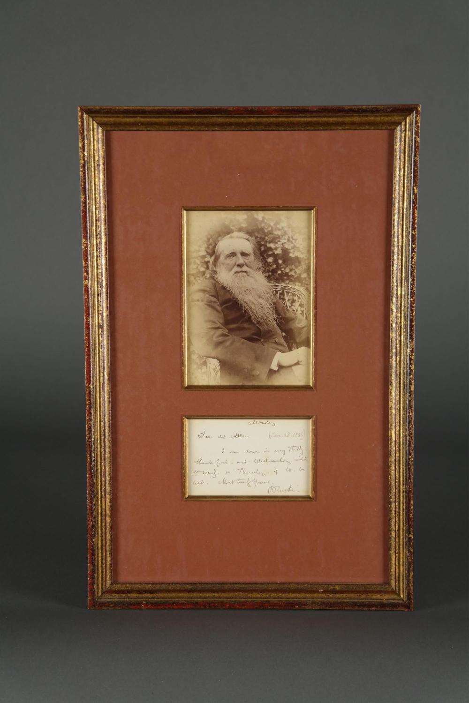 John Ruskin. Autograph Letter Signed. 1856.