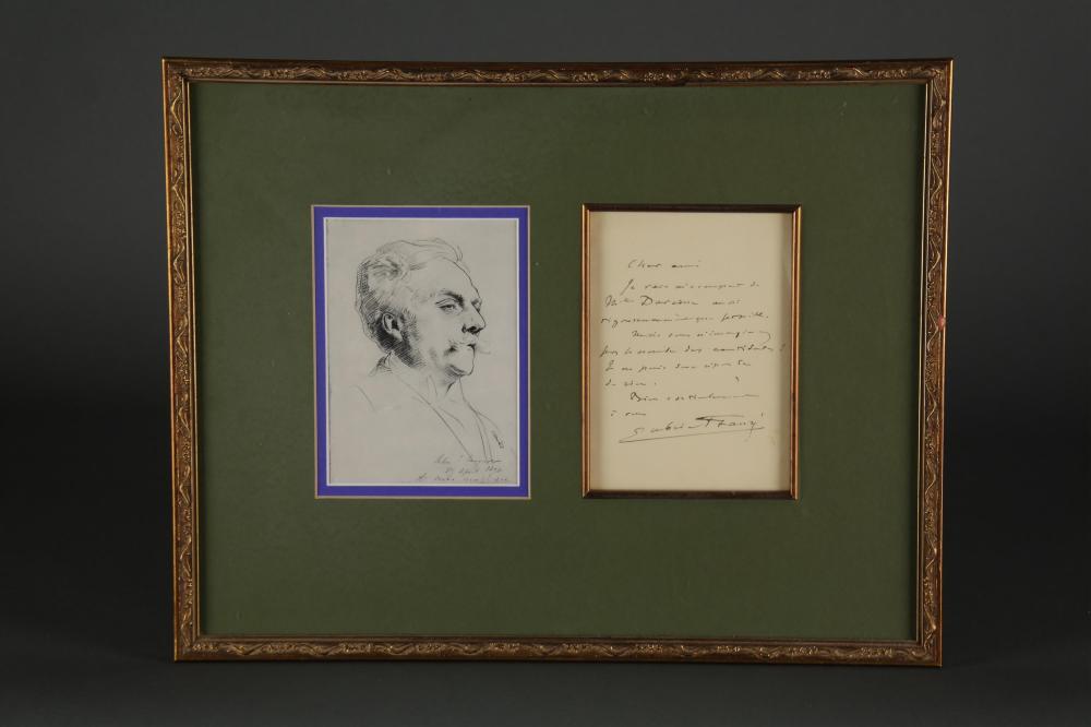 Gabriel-Urbain Fauré. Autograph Letter Signed.