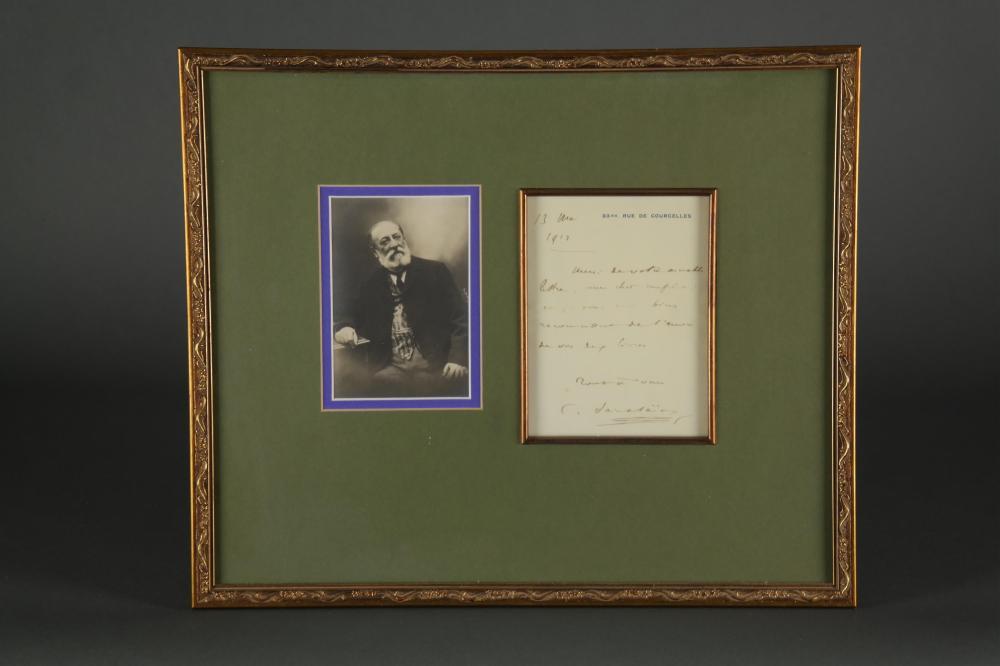 Camille Saint-Saens. Autograph Letter Signed.