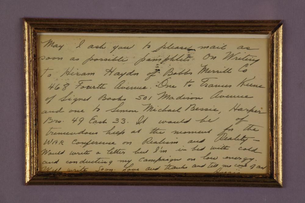 Anais Nin. Autograph Letter Signed.