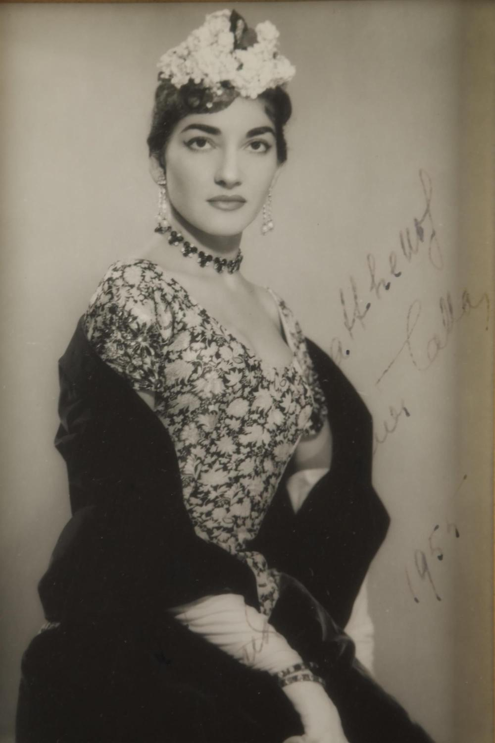 Lot 34: Maria Callas. Signed Photograph.