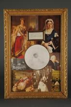 Lot 132: Queen Victoria. Signature on vellum.