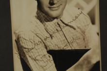 Lot 63: 2 Signed Photographs. Bob Hope, King Vidor.