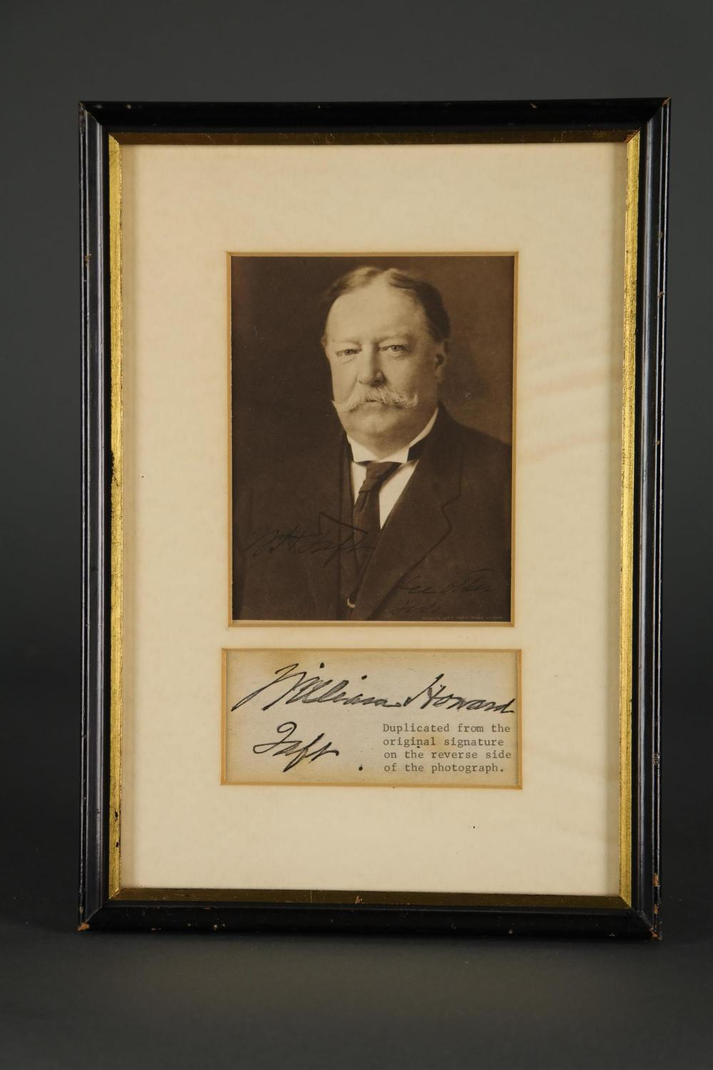Lot 8: 2 Sgd Photos. Incl: William H. Taft, Alfred Smith.