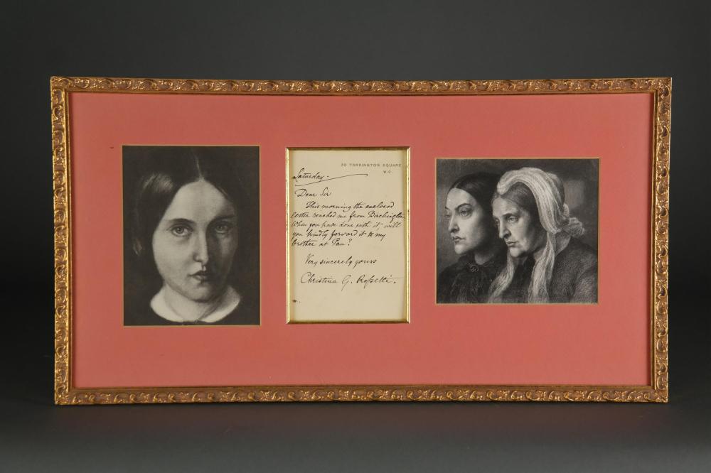 Lot 110: Christina Rossetti. Autograph Letter Signed.