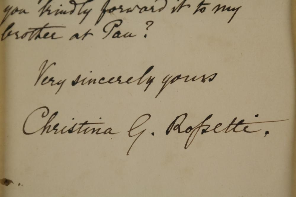 Christina Rossetti. Autograph Letter Signed.