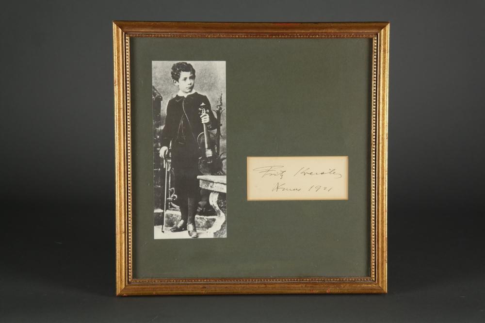 Fritz Kreisler. Signature.