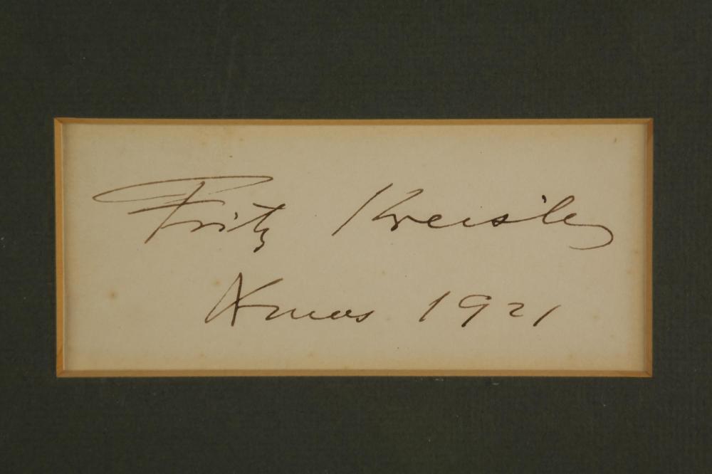 Lot 82: Fritz Kreisler. Signature.