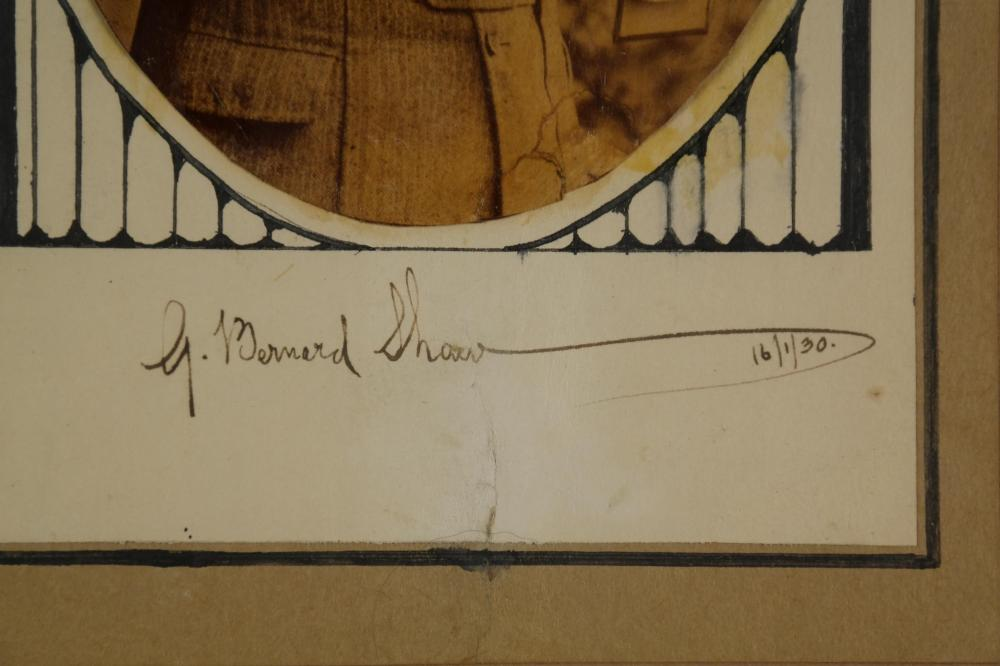 Lot 30: 3 Signed Pieces. M. Arnold, R. Kipling, G.B Shaw.