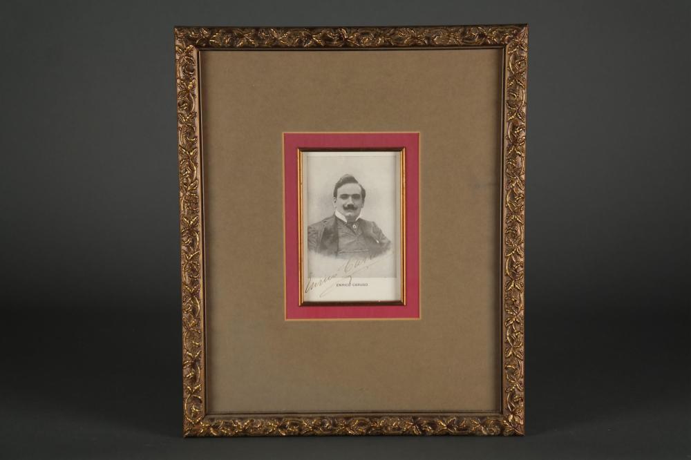 Enrico Caruso. Signed portrait.