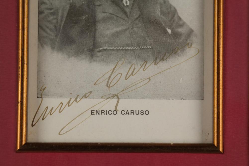 Lot 35: Enrico Caruso. Signed portrait.
