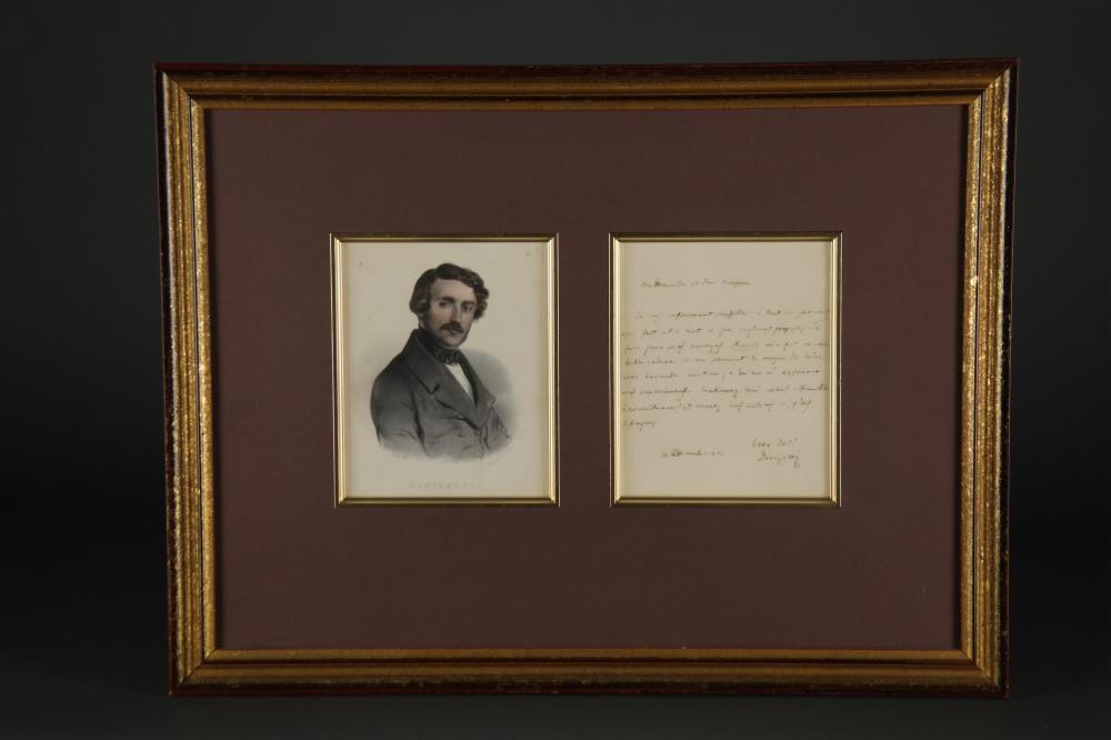Gaetano Donizetti. Autograph Letter Signed.
