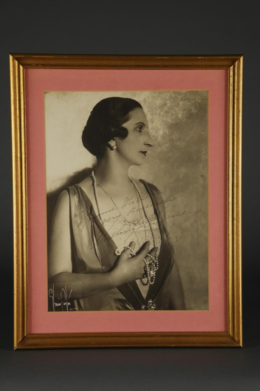 Amelita Galli-Curci. Signed Phtotgraph. 1931.