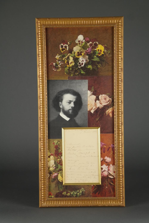 Henri Fantin Latour. Autograph Letter Signed. 1885