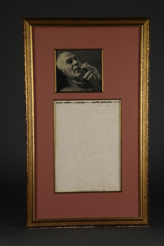 Henry Miller. Autograph Letter Signed. 1979.