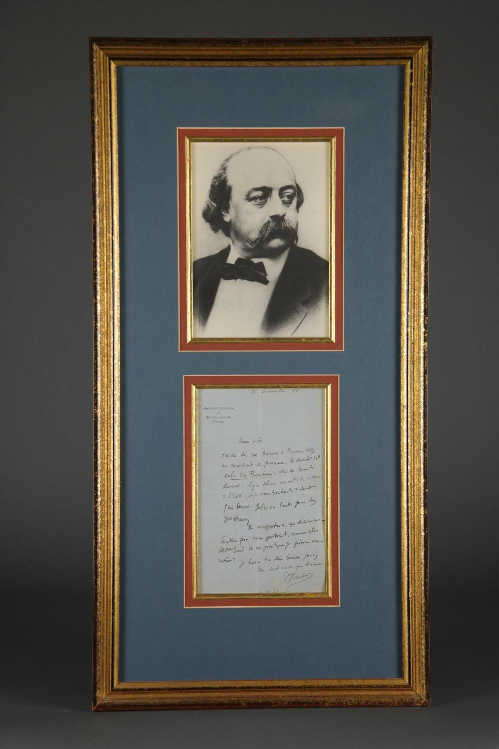 Gustave Flaubert. Autograph Letter Signed. 1866.