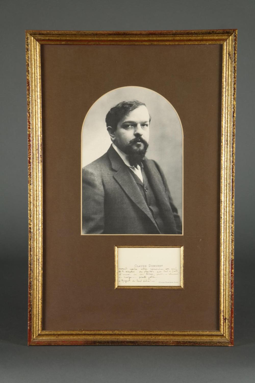 Claude Debussy. Autograph Note.