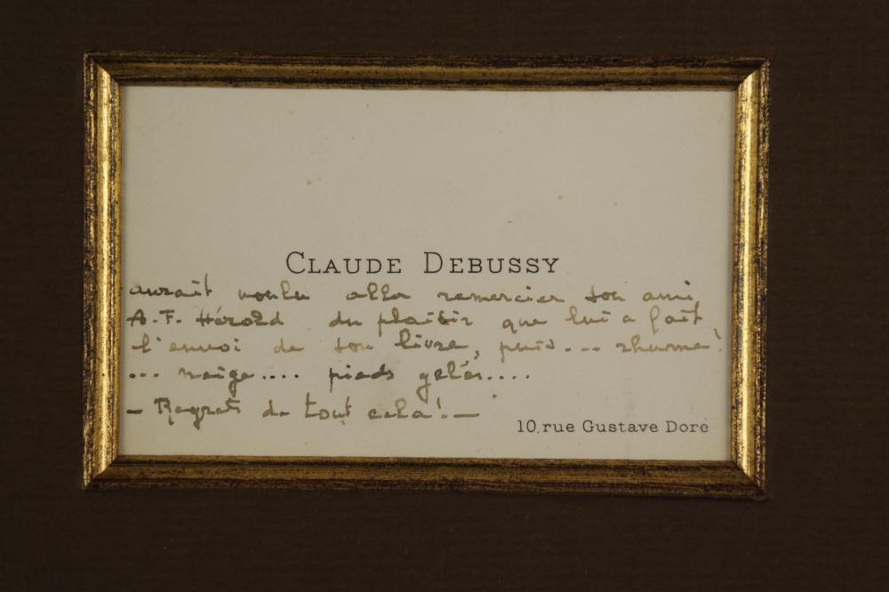 Lot 49: Claude Debussy. Autograph Note.