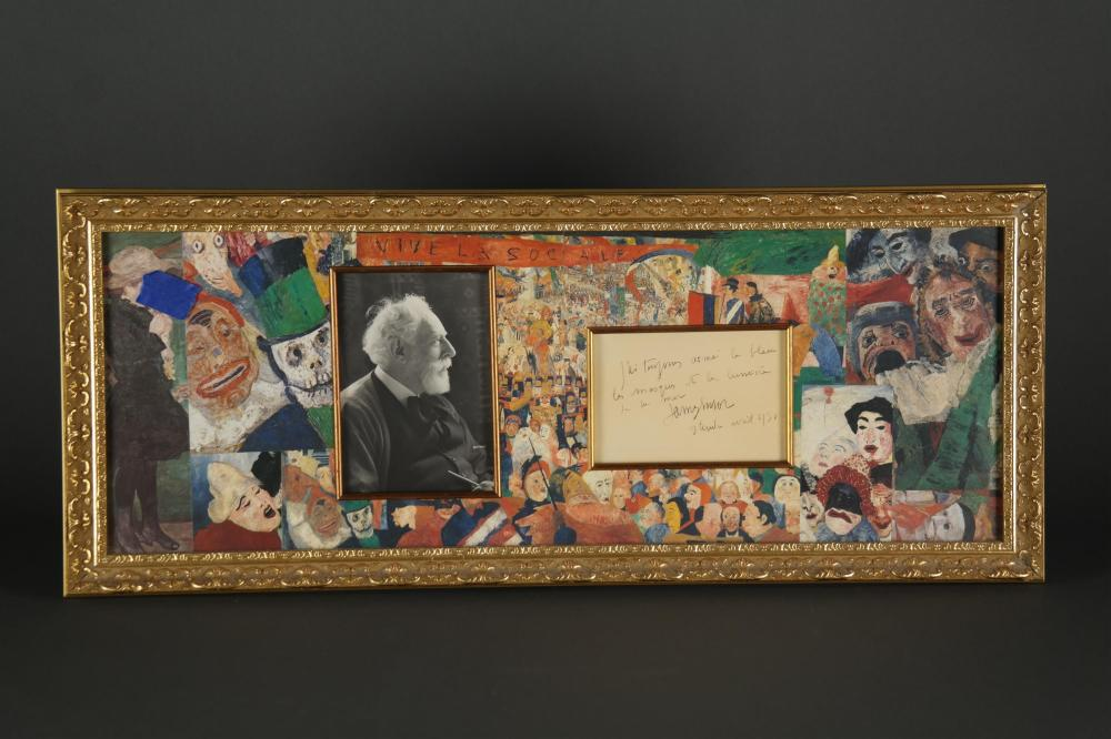 Lot 59: James Ensor. Autograph Note Signed.