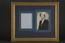 Lot 134: 2 Signed Pcs. Virginia and Leonard Woolf.