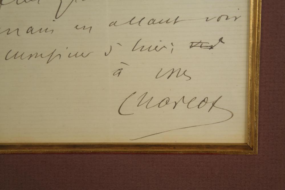 Lot 37: Jean Martine Charcot. Autograph Letter Signed.