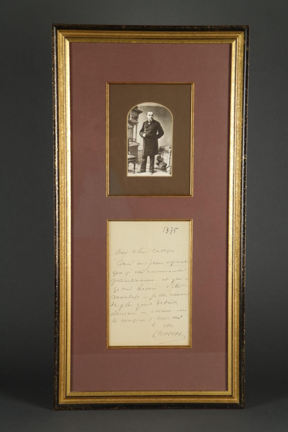 Jean Martine Charcot. Autograph Letter Signed.