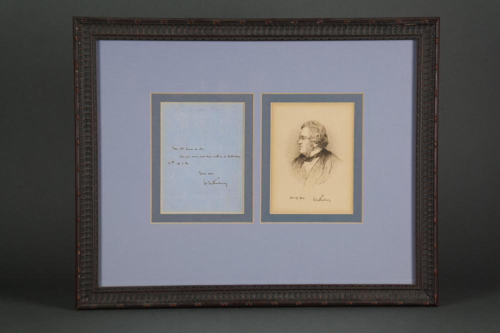 Willliam M. Thackeray. Autograph Letter Signed.