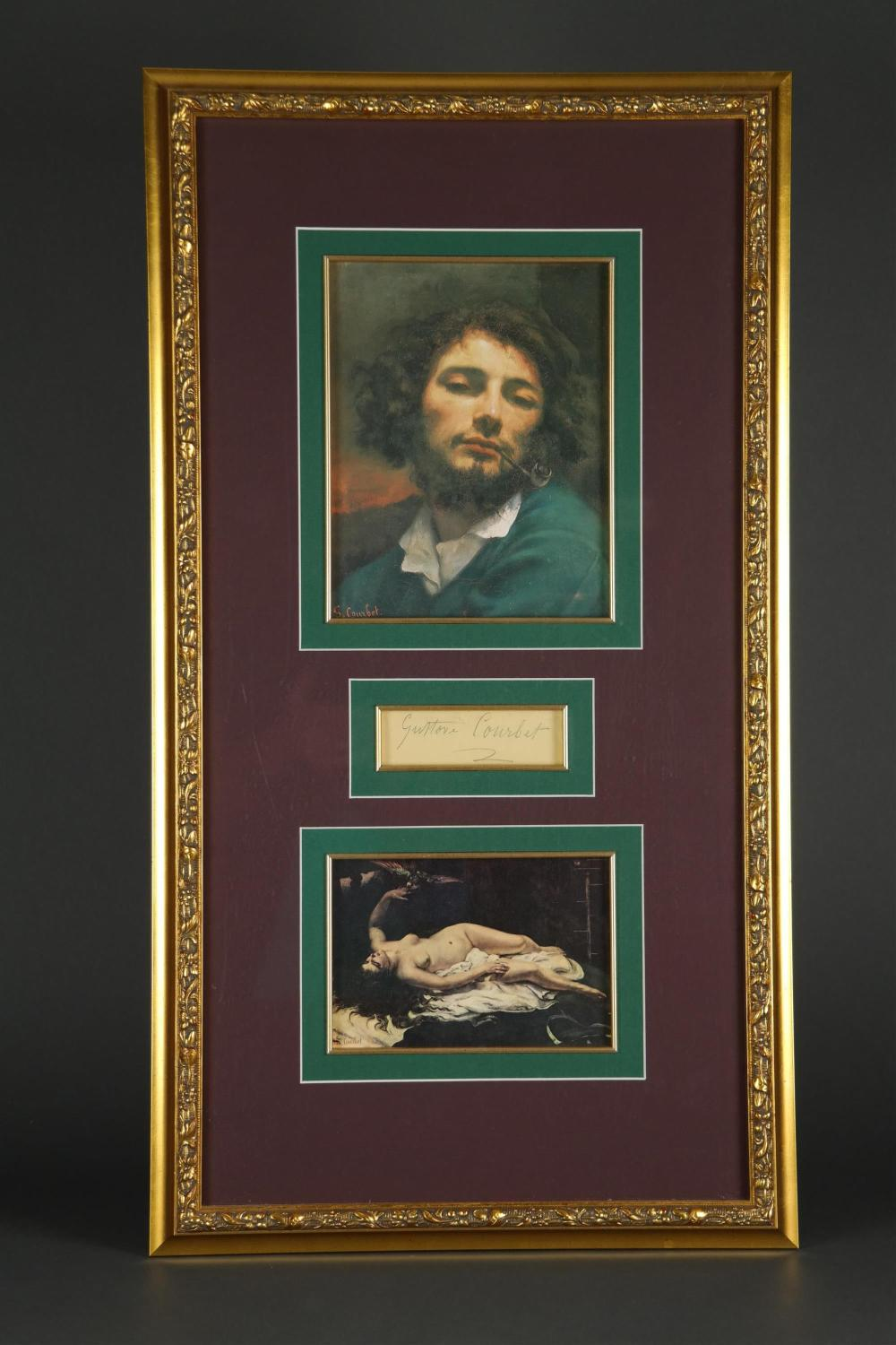 Lot 47: Gustave Courbet. Signature.