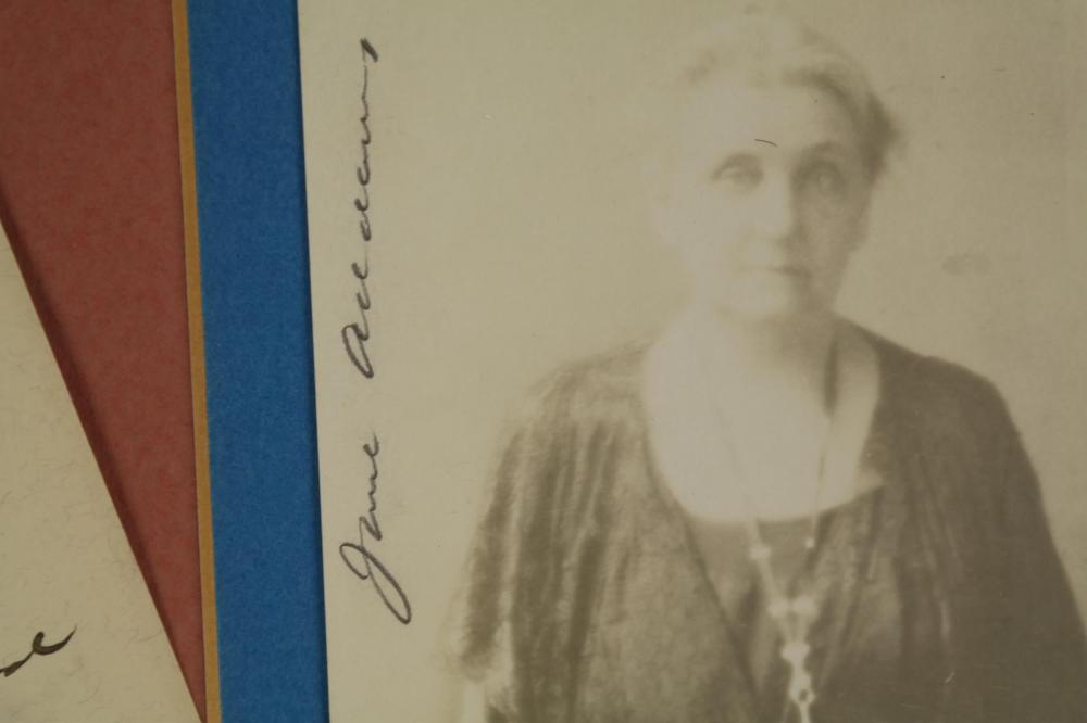Lot 3: 2 Signed Pieces. Jane Addams.