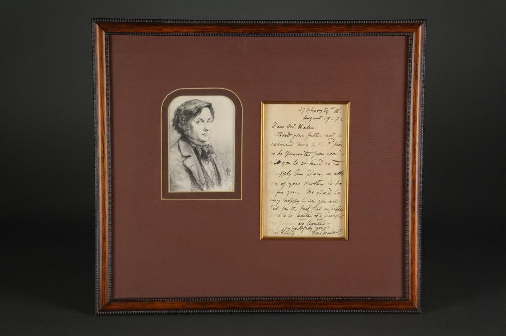 Lot 66: Ford Madox Brown. Autograph Letter Signed.