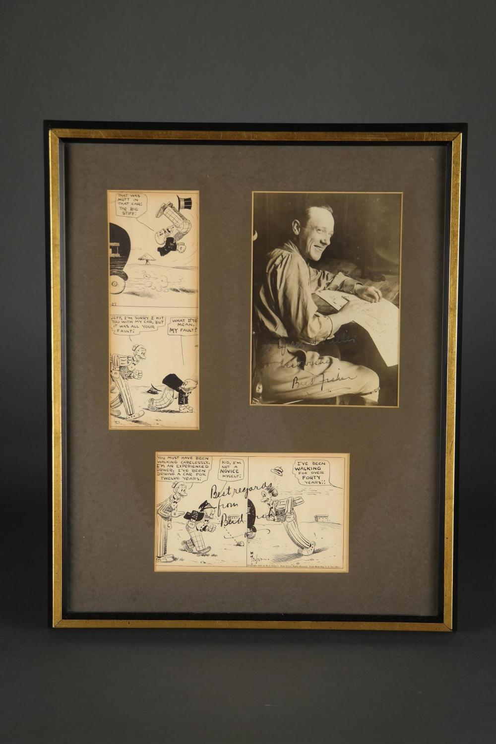 Lot 64: 2 Signed Items. Bud Fisher.