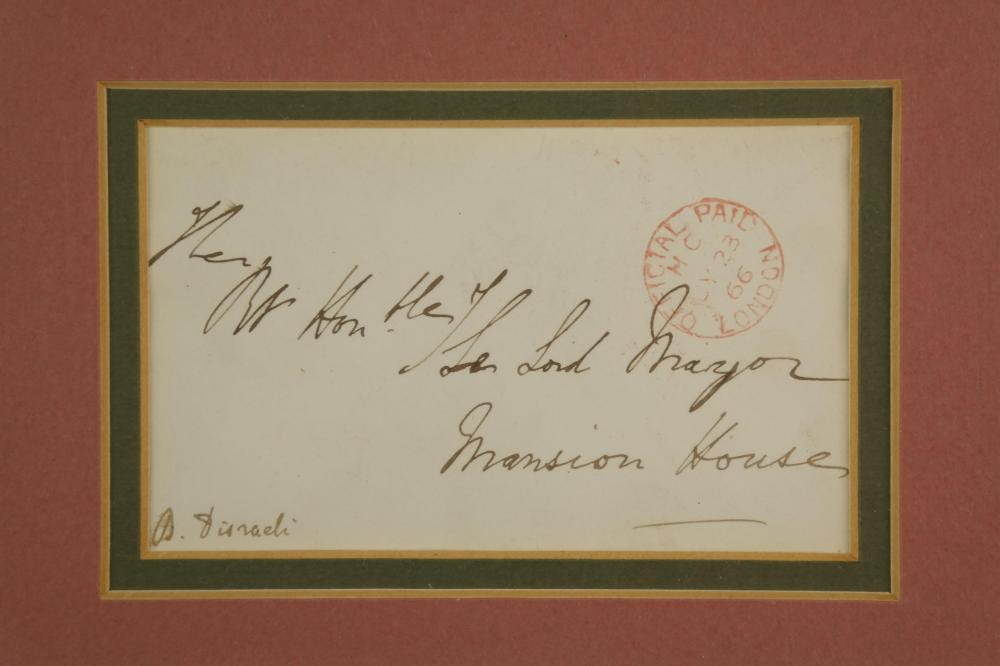 Lot 28: 2pc. B. Disraeli and S. Baldwin. Signatures.