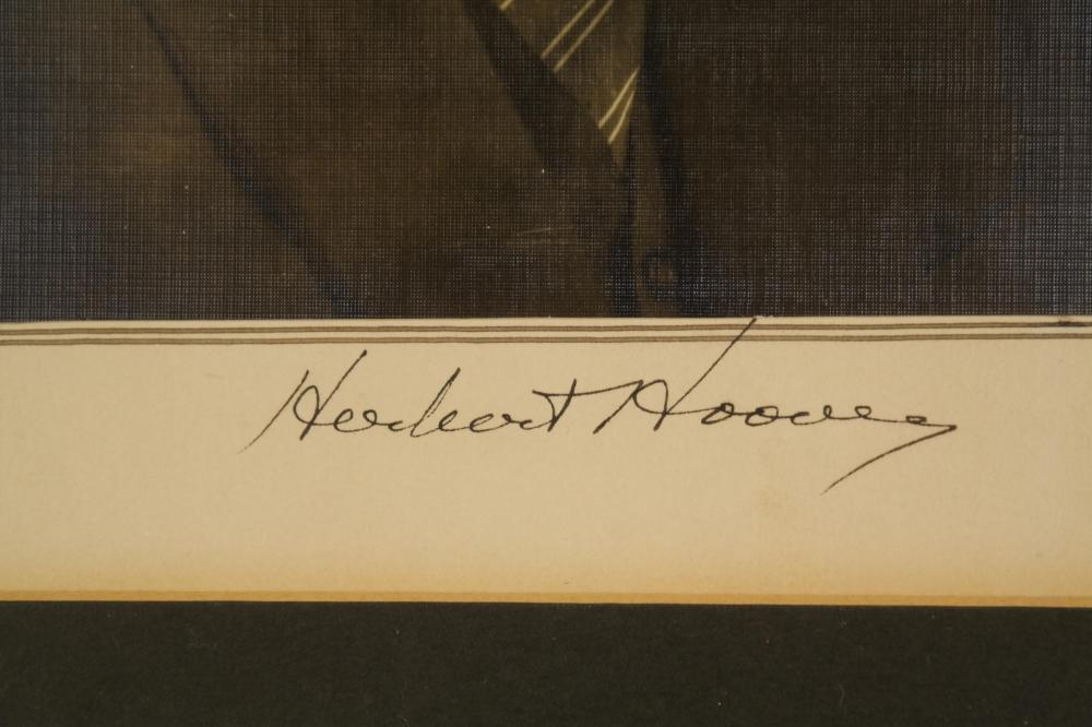 2 Signed Portraits. C. Coolidge, H. Hoover.