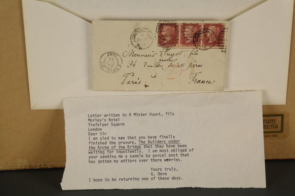 Lot 53: Gustave Dore. Autograph Letter Signed.