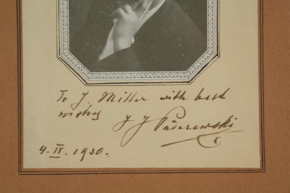 Lot 43: 2 Signed Pieces. Paderewski, Rachmanioff.
