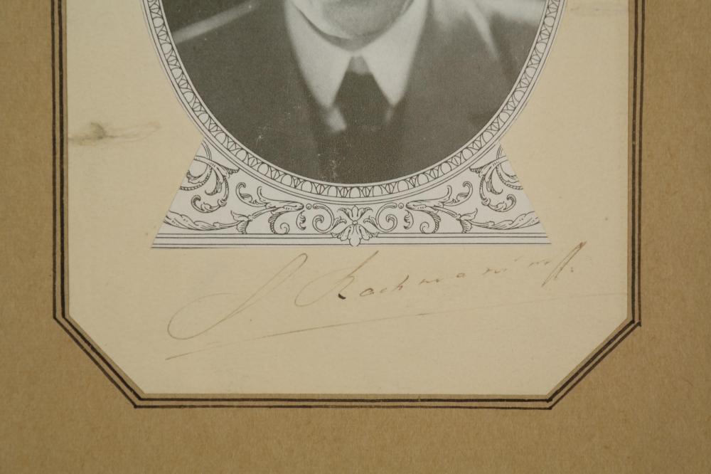 2 Signed Pieces. Paderewski, Rachmanioff.