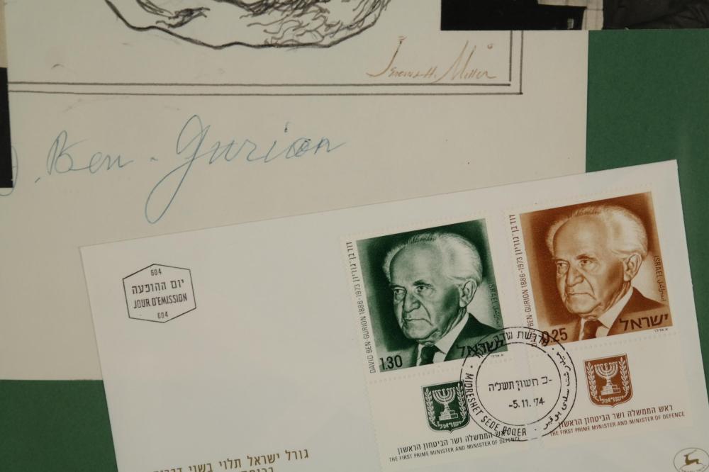 D. Ben Gurion. Autograph.