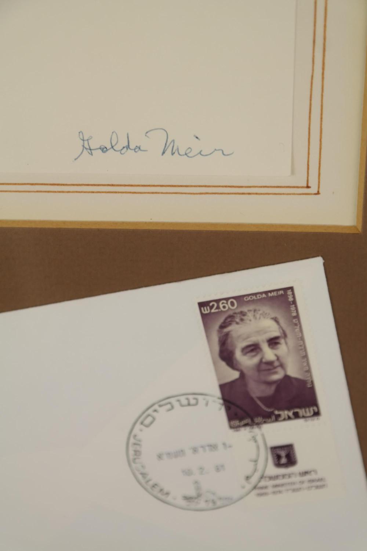 Lot 91: Golda Meir. Portrait Signed.