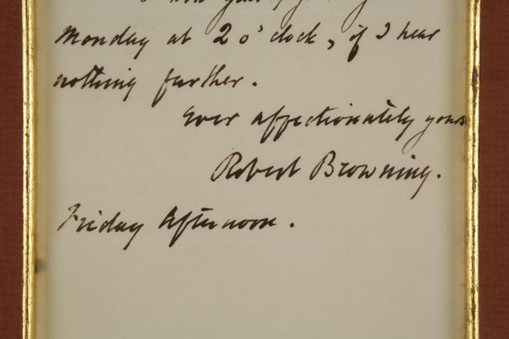 Lot 33: Robert Browning. Autograph Letter Signed.