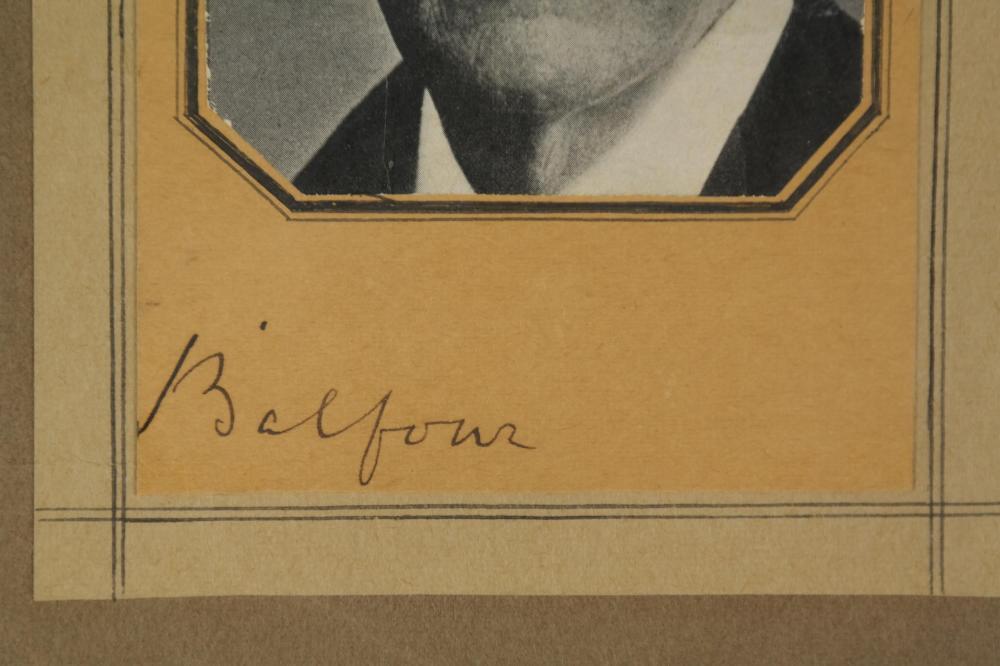 Lot 29: 3 Signed Pcs. Chamberlain, Lloyd George, Balfour.