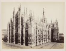 Lot 283: 7 Framed Albumen Photographs of Italy. 19th c.