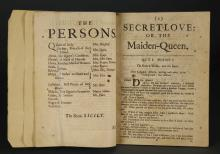 Lot 182: Dryden. Secret-Love: Or, the Maiden-Queen. 1691.