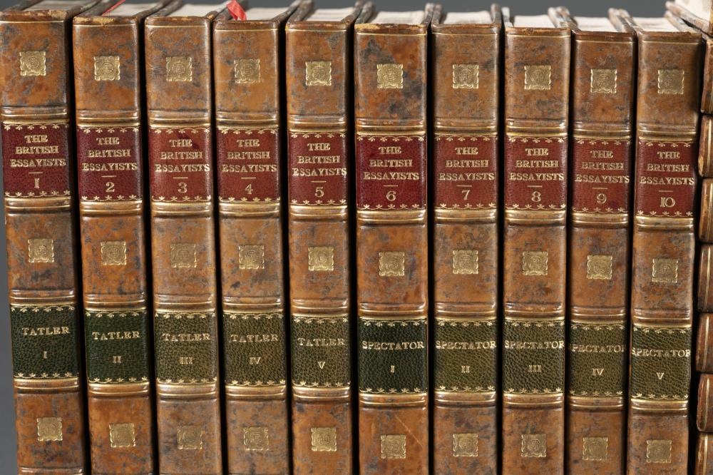 Lot 168: The British Essayists. 45 vols. 1823.