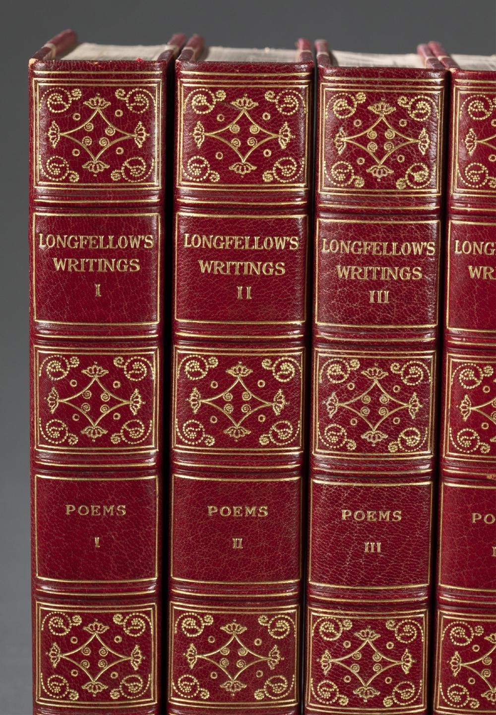 Lot 172: Longfellow. The Complete Works. 11 vols. 1904.